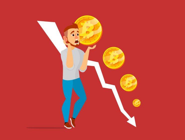 bitcoin caduta